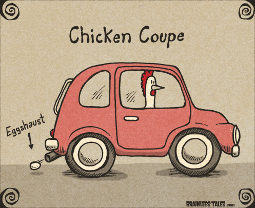 Chicken Coupe Car Pun